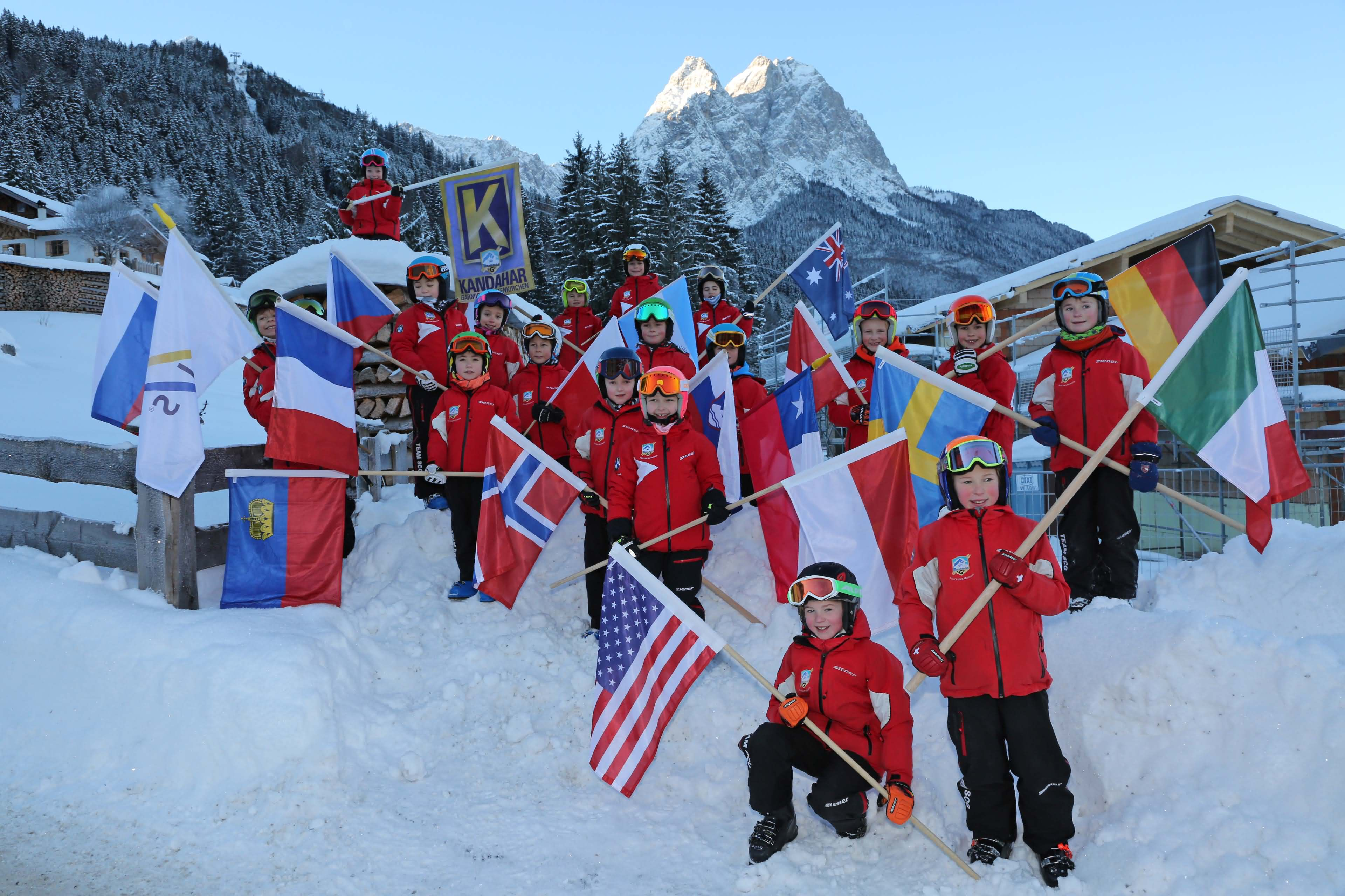 GARMISCH PARTENKIRCHEN WORLD CUP NATIONS FLAGS