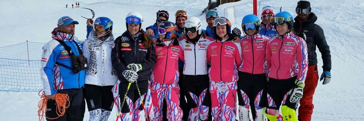 "French Team "" GS-SL group "" on training in La Rosières """