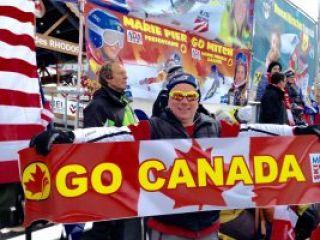 At Méribel ski World Cup Finals 2015 with Canada Alpine fans .. Top Fun