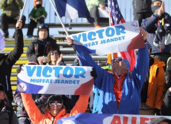 Victor Muffat Jeandet fans at Beaver Creek Ski World Cup 2015