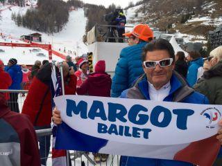 Jean Louis Bailet waving his baby's banner .. :-) Margot Bailet