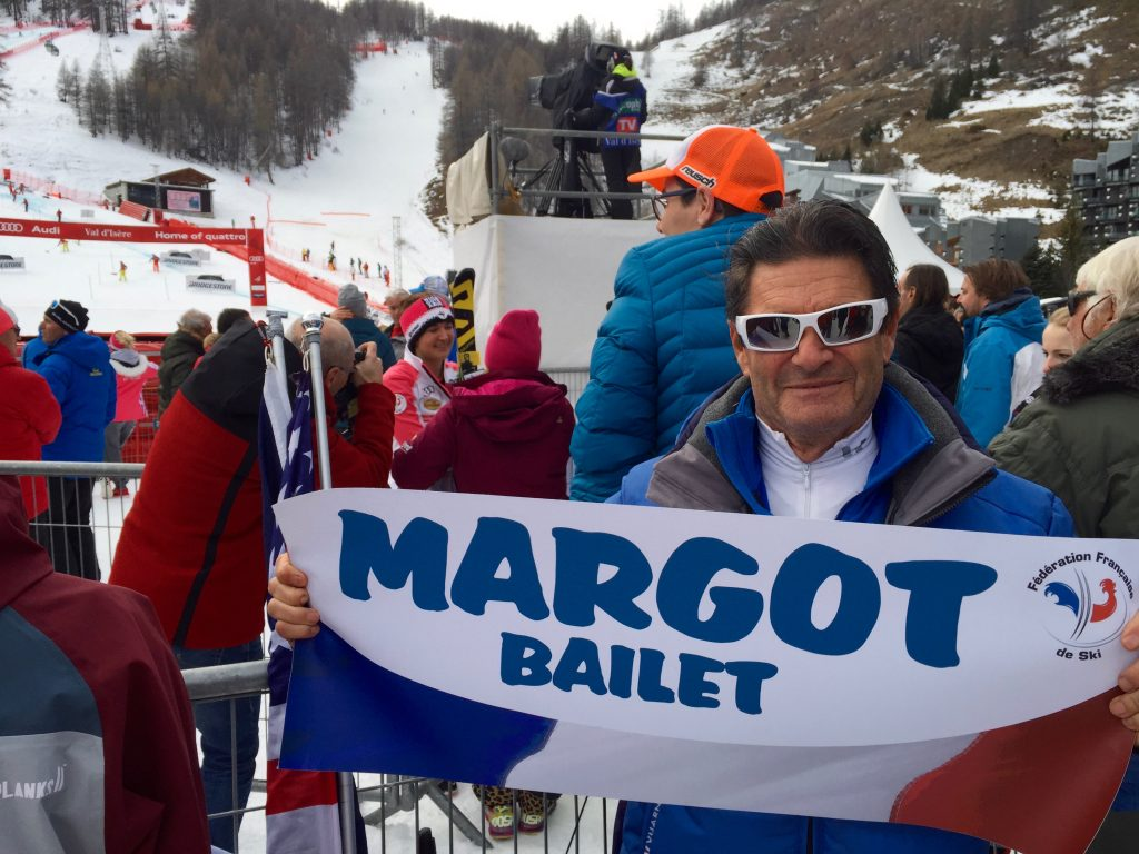 Jean Louis Bailet waving his baby's banner .. :-) Margot Bailet