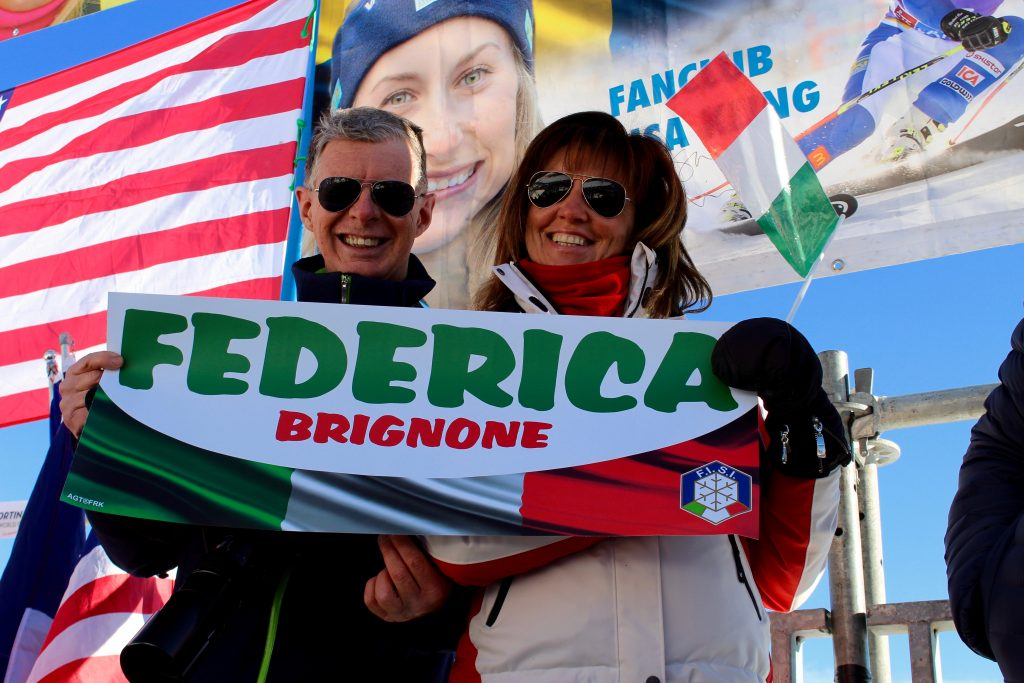Italian fans at Cortina Classic 2017
