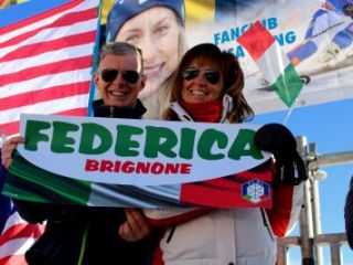 Italian fans at Cortina Classic 2017