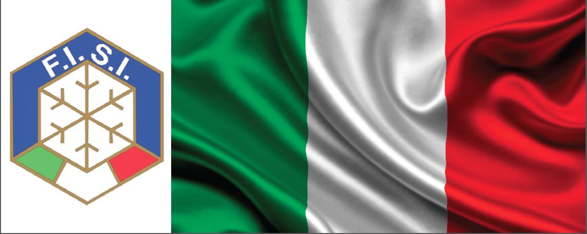 ITALIA SKI LOGO FLAG