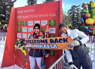 Mikaela Glorious return to the races with a new win. Crans Montana 2016