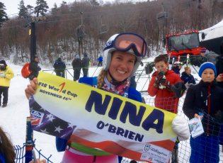 Nina O'Brien First World cup start Killington 2016