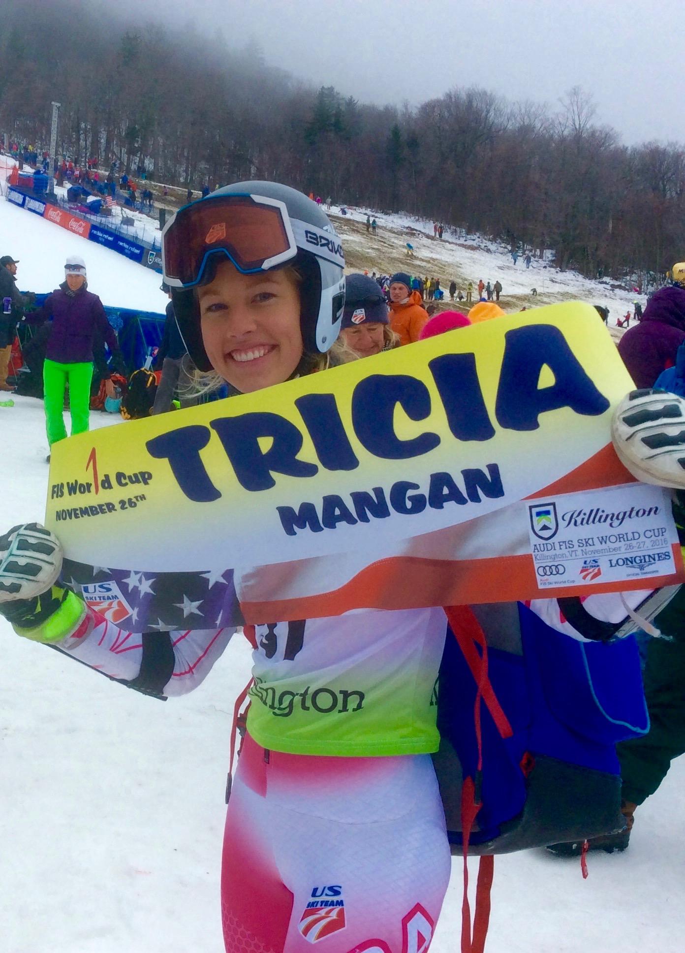 Tricia Mangan First World cup start Killington 2016