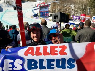 Tiffany Gauthier & french fans. Aspen Finals 2017
