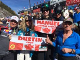 Alpine Canada , Manny and Dustin's fans at Aspen Ski World Cup Finals 2017