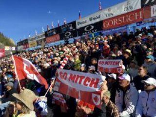 Marie Michèle Gagnon fans at Aspen Ski World Cup Finals 2017