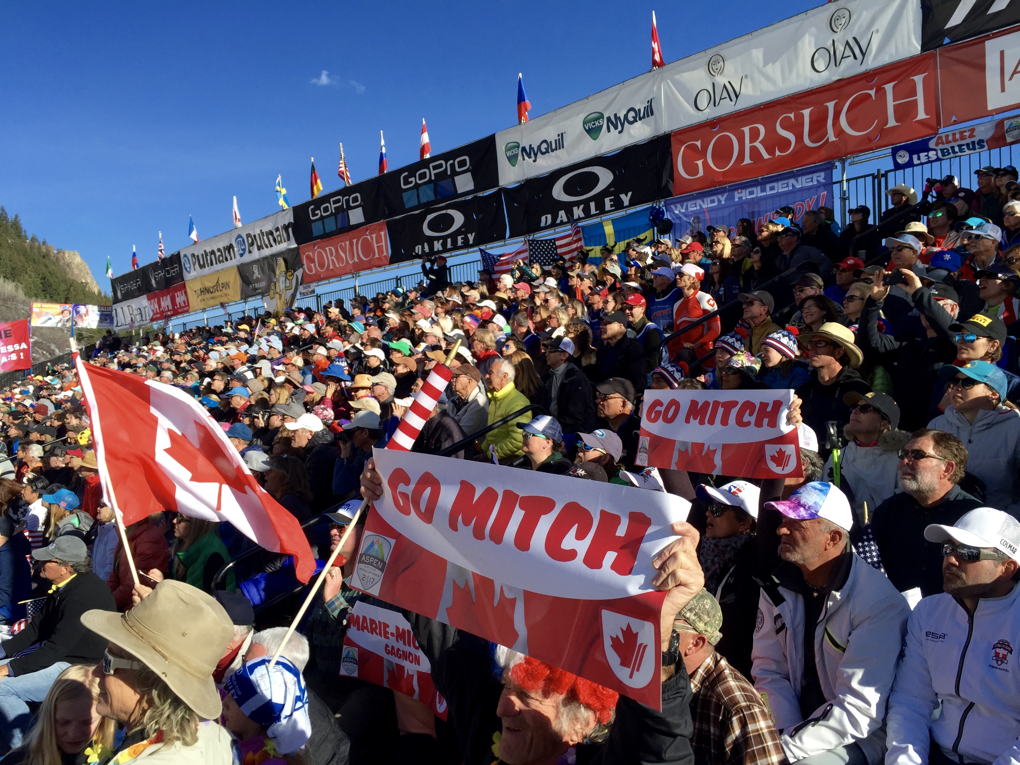 Marie Michèle Gagnon fans at Aspen Ski World Cup Finals 2017