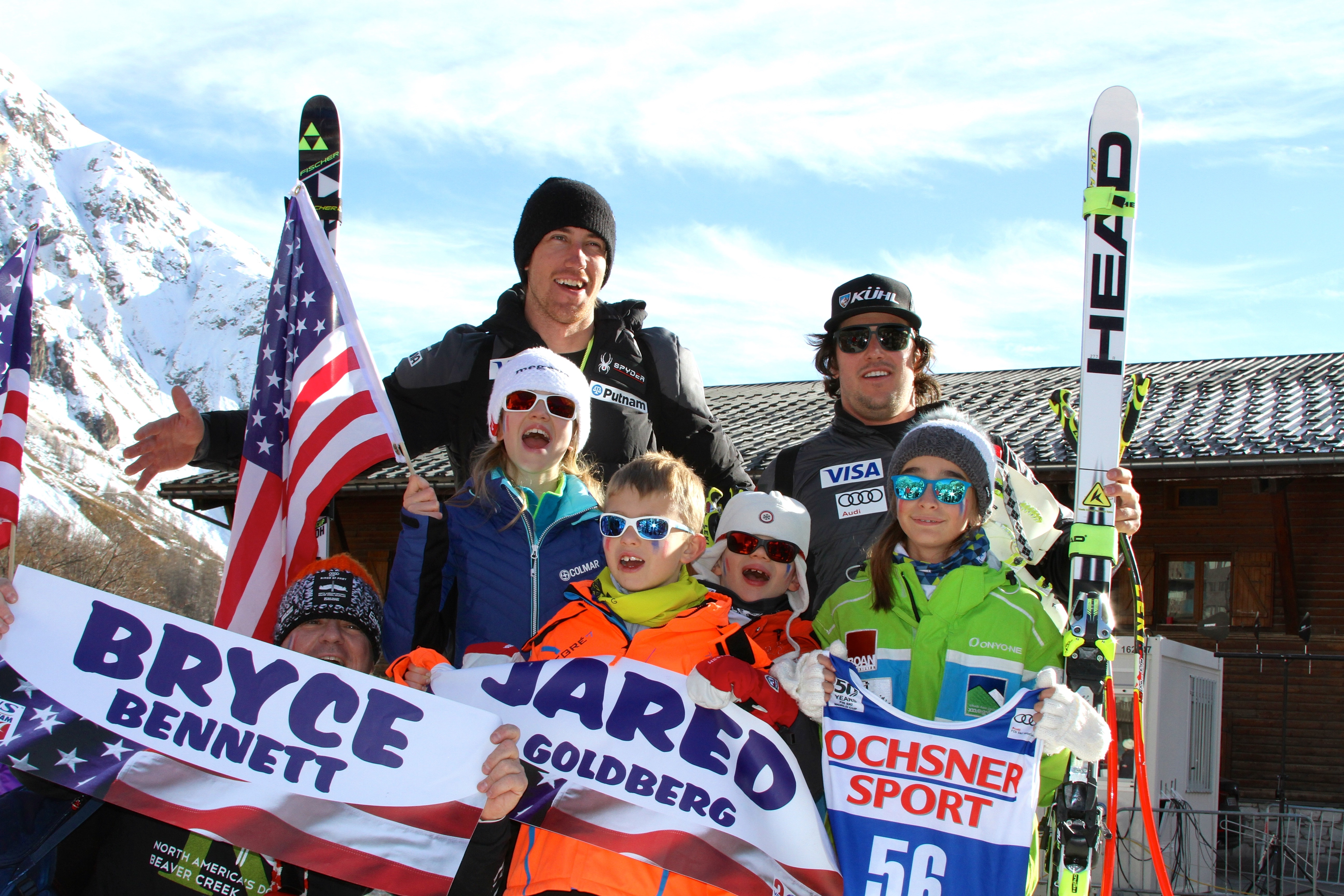 Our long term friends Bryce & Jared at Val d'Isere World Cup 2016