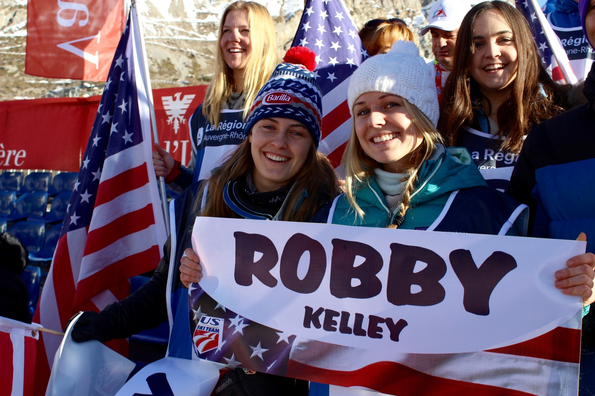 Those girls came all the way from Norway to cheer american racers..  See you in Killington 2017 Ashley and Lauren