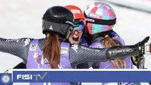 Per la prima volta nella sua storia, l'Italia femminile dello sci alpino ha conquistato la Coppa delle Nazioni con 4911 punti davanti all' Austria e la Svizzera.