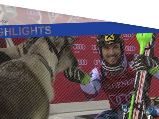 See how the 5-time Overall World Cup champ dominates the Slalom event in Finland ahead of teammate Matt and Italy's Moelgg to equal Pirmin Zurbriggen with 40 World Cup wins.