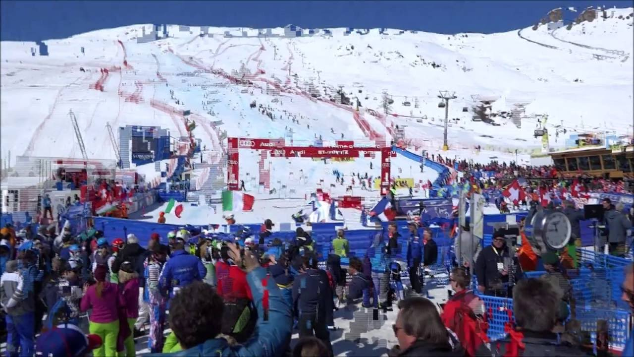 Welcome to my video of part of the 2016 Audi FIS Ski World Cup Finals, held in St Moritz. The main race featured on the film is the Parallel Giant Slalom Team Event, which was won by Switzerland. Germany were second, and Sweden third. At the end of the video you can hear the Swiss national anthem playing, as the Swiss fans wave their flags in celebration.