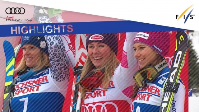 The American star conquers her 10th straight victory in a World Cup Slalom ahead of Veronika Velez Zuzulova and Wendy Holdener.