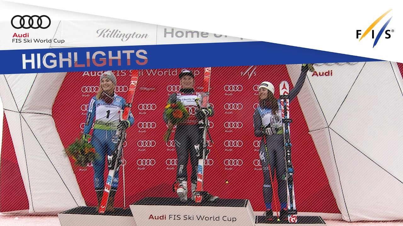 France's Tessa Worley wins a World Cup giant slalom after 3 years, holding off first-run leader Nina Loeseth of Norway. First ever podium for Italy's Goggia.