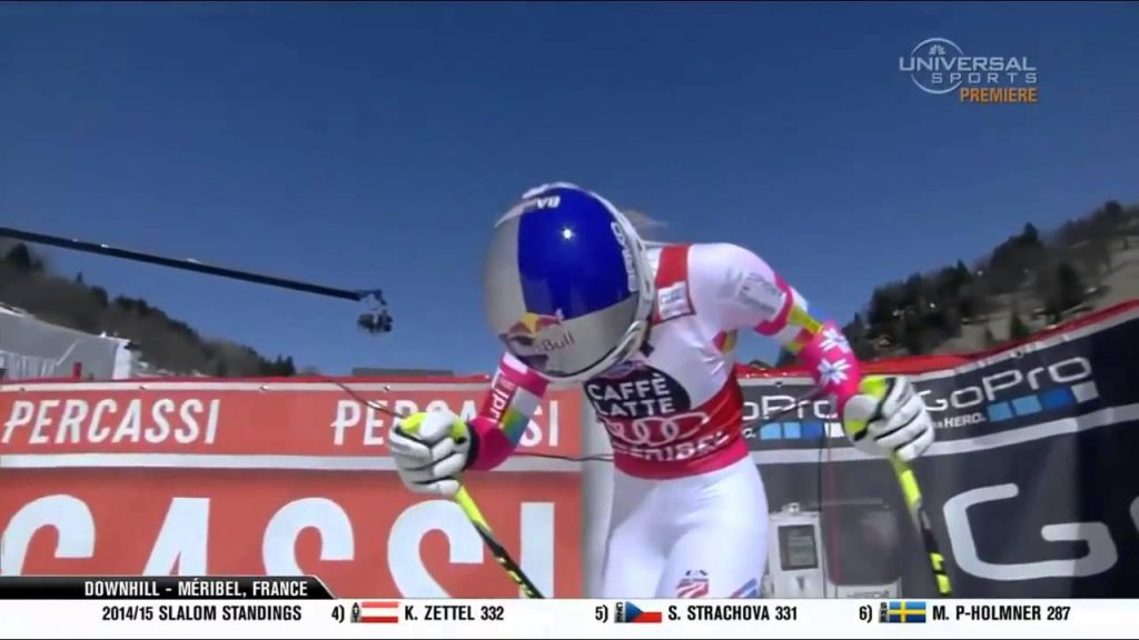 Our amazing Lindsey grabbed the DH Globe at Meribel Finals ski World Cup 2015