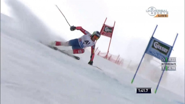 http://www.UniversalSports.com 2015, Solden, Austria, FIS Men's Alpine Skiing World Cup Giant Slalom, Ted Ligety (USA) gets his 24th win of his career, taking the victory in the first Giant Slalom event of the 2016 season with a time of 2:23.88. (Call your TV provider and ask for Universal Sports to watch full events on TV and online.)