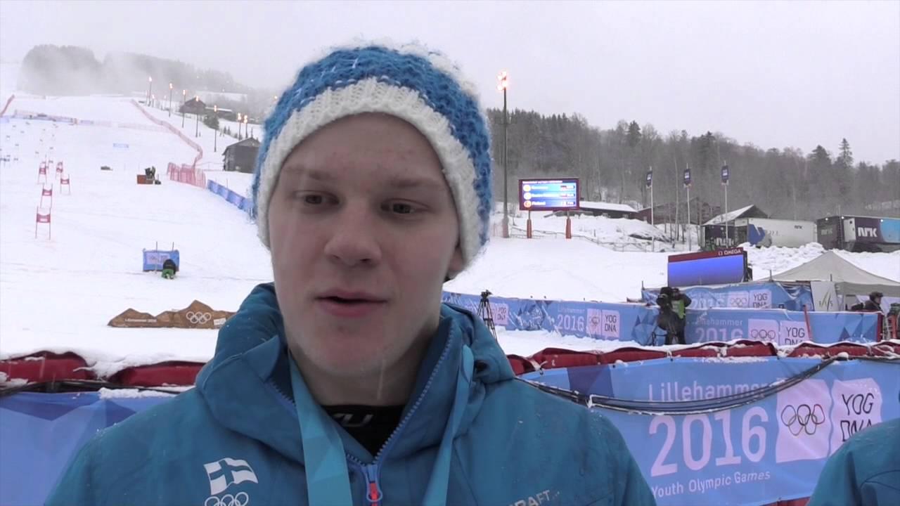 YOG alpine trophy bronze OlympicTeamFinland