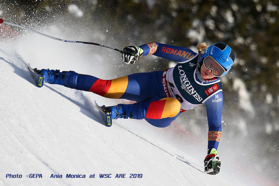 Ania Monica at Word Ski Championships ARE 2019