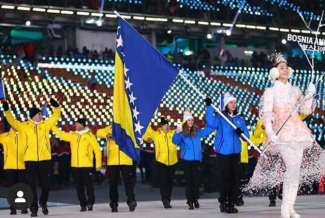 PyeongChang 2018,Elvedina flag bareer