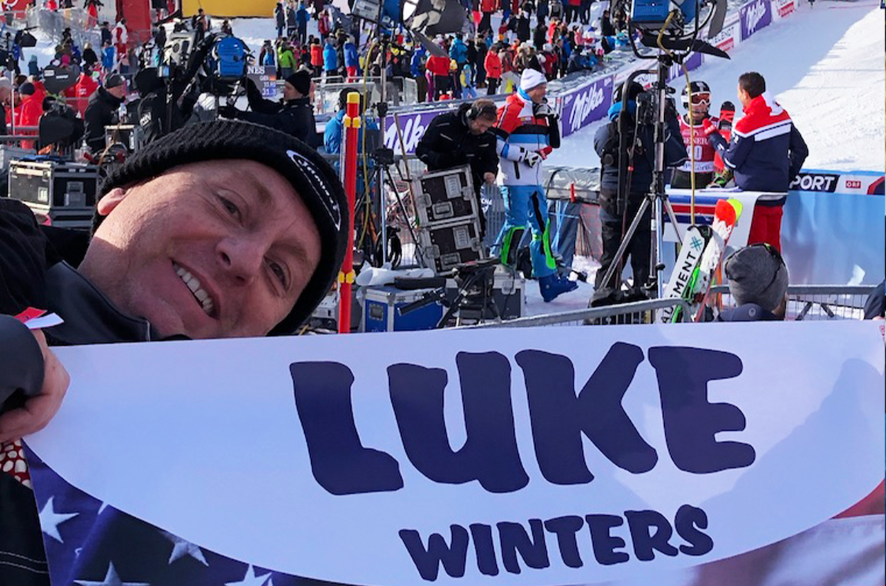Our new SL Superstar, Luke Winters with worldwide TV covering at Val d'Isère 2019