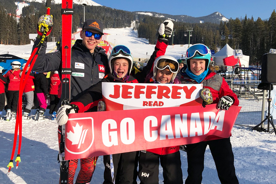 Jeff family and fans Lake Louise 2019