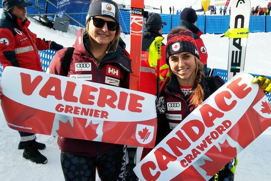 Valerie and Candace at Cortina 2018